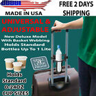 Adjustable Bottle & Cup Holder For Rolling Carry On Suitcase Luggage Bag Handles