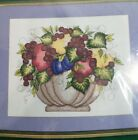 BUCILLA Counted Cross Stitch Kit FRUIT by Donna Dewberry #43127 NIP Sealed Craft