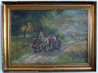 Exit Mit Dem Horse-Drawn Carriage, 1. half 20. Jh Signed: a. Parot Oil on Lein
