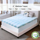 Blue Swirl Gel Memory Foam Mattress 4 Inch Topper Queen King Twin Ventilated Dot image