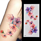 Women Waterproof Temporary Fakes Tattoo Sticker Watercolor Orchid Arm LE
