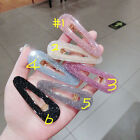 Korea Lovely Acetic Acide Hair Clips Solid Acrylic Geometric Waterdrop Hairpins
