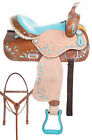 Western Barrel Saddle 15 16 Pleasure Trail Show Bling Horse Leather Tack Set