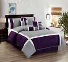 All American Collection New 7 Piece Embroidered Over-Sized Comforter Set