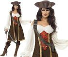 Ladies Pirate Wench Fancy Dress Costume High Seas Caribbean Buccaneer S M L XL