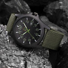 Fashion Men's Military Army Sports Analog Quartz Date Wrist Watches Nylon Strap image