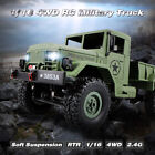 WPL B-1 1/16 RC Military Truck 4WD RC Rock Crawler Off-Road Army Car RTR L3O2