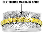 Two Tone Meditation Spinner 925 Sterling Silver Ring Jewelry Size 5-10 DGR1038