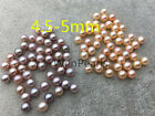 10 beads AAA 4.5-5mm pink/lavender seed pearl,freshwater round loose pearl