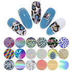 10 Rolls/Set Nail Foils Mixed Patterns Transfer Stickers Nail Art Decoration