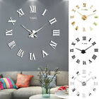 Large 3D Frameless Wall Clock Stickers DIY Wall Decoration for Home Office Gift