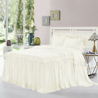 HIG 3 Piece ALINA Ruffle Skirt Bedspread Set 30 inches Drop Twin Queen King Size image