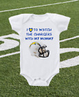 Los Angeles Chargers Onesie Shirt Helmet Design Love To Watch With Mommy $13.95 USD on eBay
