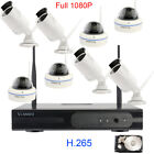 8Ch Wireless 1080P Home Surveillance Security Camera System Hard Drive H.265 NVR
