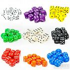 16mm Dice Six Sided D6 Wargame RPG Board Games Set White Black Blue Red Packs