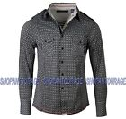 English Heroes by Rock Roll n Soul EHW116 L/S Button Down Woven Shirt for Men