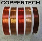 Copper Beading Wire For Jewellery, Craft  0.1 - 3 Mm Huge Range, Generous Length