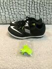 Nike Zoom High Jump Elite Track Spikes Shoes Black White 806561-017 Mens Size