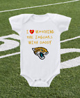 Jacksonville Jaguars Onesie Bodysuit Shirt Love Watching With Daddy on eBay