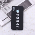 Space Moon Astronaut Stars Planets Universe Black Silicone Case Cover For Huawei