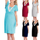 Womens Lace Pregnant Casual Breastfeeding Nursing Baby Maternity Pajamas Dress, used for sale  USA