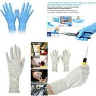 50 Pairs Disposable Nitrile Powder Free Acid Alkali Resistant Protective Gloves