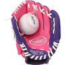 Rawlings Players Youth Tball / Baseball Glove Series (Ages 3-9), Pink/Purple...