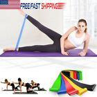 Set of 5 Resistance Band Loop Exercise Workout Cross Fit Fitness Yoga Booty Band image