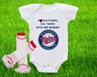 Minnesota Twins Outfit Onesie And Ruffle Leggings Set Watching WIth Mommy on Ebay