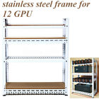 8/6/12 GPU Mining Rig Aluminum Case Stackable Open Air Frame Stainless Steel USA