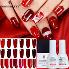 BORN PRETTY 10ml Nail Gel Polish Semi Permanent Red Series Nail Gel Varnish