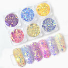 Nail Powder Sun UV Light Changing Color Glitter Sequins 3D Nail Art Decoration