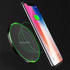 Qi 10W Wireless Fast Charger Charging Pad For Samsung Note 8 S9 iPhone X 8PlusHJ