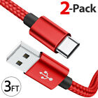 2-PACK Samsung Galaxy S9 S10+ Note 8 9 USB-C Type C Charging Cord Cable Charger