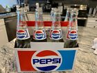 Vintage Pepsi 16oz 8 pack Bottles And Cardboard Carry Case 1980s Carrying NICE