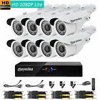 Eyedea 8 CH H 1080P DVR Phone View Night Vision CCTV Camera Security System