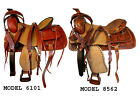 15 16 17 TOOLED LEATHER HORSE PLEASURE TRAIL HARD SEAT WESTERN SADDLE PACKAGE