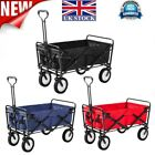 LIFE CARVER Foldable Pull Along Wagon Garden Trailer Hand Cart Transport Trolley