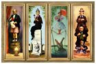 HAUNTED MANSION STRETCHING ROOM ALL 4 SCENES ON 1 POSTER -  4 SIZES (B2G1 FREE!)