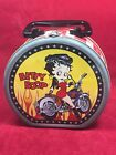 BETTY BOOP ROUND LUNCH BOX OR TRINKET BOX; EXCELLENT SHAPE