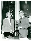 1988 Press Photo Politics President Icelad Vigdis Finnbogadottir Dukakis 8X10
