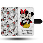 Minnie Mickey Paare Liebe Alle Started Disney Synthetisch Stoff Handy Hülle