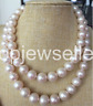 huge AAA12-13mm south sea round white pearl neklace 36inch 14k