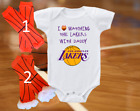 Los Angeles LA Lakers Onesie Shirt I Love Watching With Daddy on eBay
