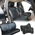PU Leather Car 5 Seats Covers 11 Pieces Front & Rear Pillows Full Interior Set $89.95 USD on eBay
