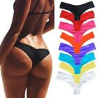 Women's Brazilian Thong Bikini Bottom Cheeky Traingle Briefs Swimwear Bathing