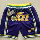 Utah Jazz Vintage Basketball Game Shorts NBA Men's NWT Stitched Pants