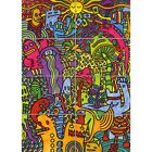 Psychedelic Mushroom Weird Cool Art Huge Giant Art Picture Print Picture
