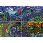 """Psychedelic Trippy Mushroom Field Weird Giant Wall Mural Art Poster Print 47x33"""""""