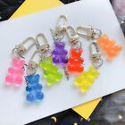 Cute Bear Flatback Keychain 1PC Resin Pendant Charms Keyring for Woman Gifts New